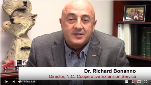 Dr. Rich Bonanno, NC State Extension director, shares monthly update videos for employees.