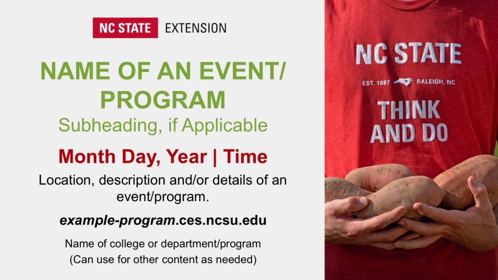 NC State Extension Digital Billboard slide example
