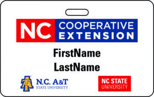 N.C. Cooperative Extension Name Badge sample