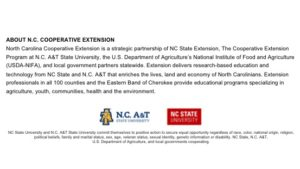 N.C. Cooperative Extension partnership statement
