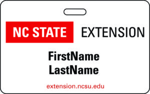 NC State Extension Name Badge sample