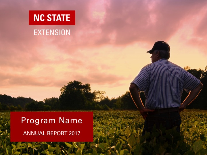 NC State Extension program branding example | Separated Logo and Program Name