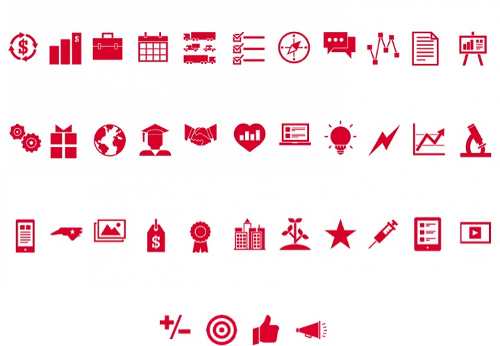 NC State brand graphic icons collection
