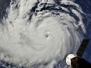 Hurricane Florence satellite image from September 10, 2018