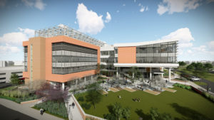 Artist rendering of the Plant Sciences Building on Centennial Campus at NC State University in Raleigh, North Carolina