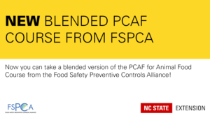 black and yellow announcement of a new PCAF course