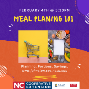 Cover photo for Register Now! Meal Planning 101